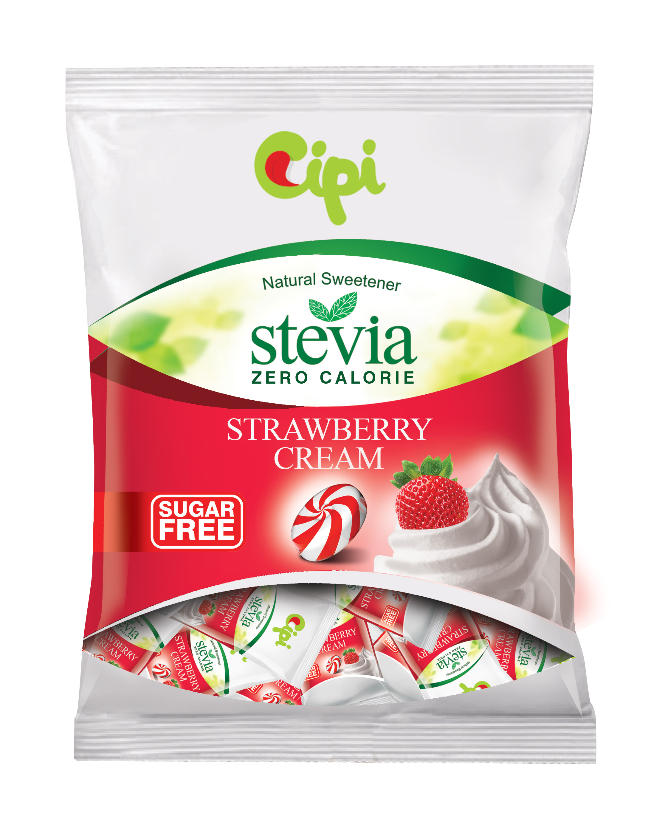 STEVIA sugar free Strawberry Cream Candies